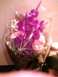 カウンターの花束