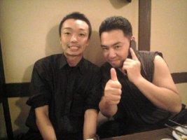 「結人」圭治さんと辻さんにイタ電中の大坂さん