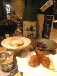 シャモロック料理と記念酒&祝い酒
