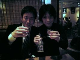 「笑亀」丸山さんと「チョウゲン坊」竹口さん