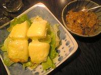 ハンペンのチーズ焼き納豆ソース