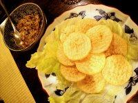 揚げ長芋の納豆ソース