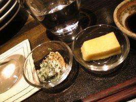 モロヘイヤ豆腐ととうもろこし豆腐