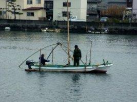しろうお漁「四つ手網漁」