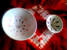 司さん作の茶碗と盃