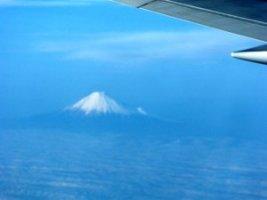 富士山の上空